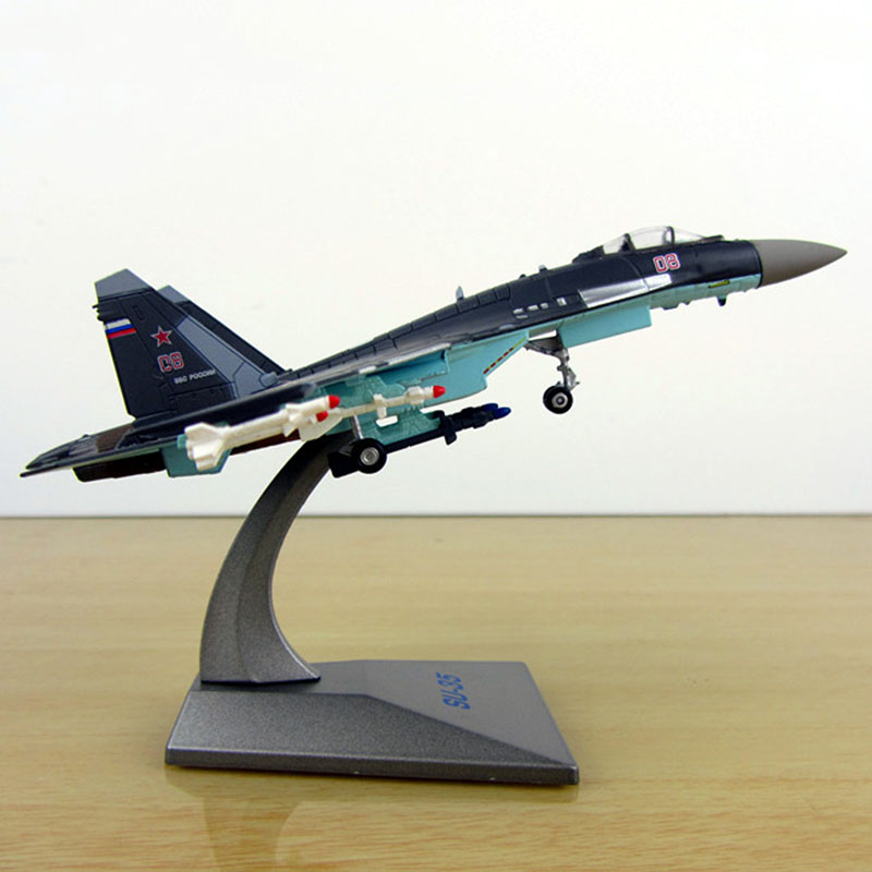 1/144 Scale Soviet Union Navy Army Su35 Fighter Aircraft Russia Airplane Models Adult Children Toys For Display Show Collections