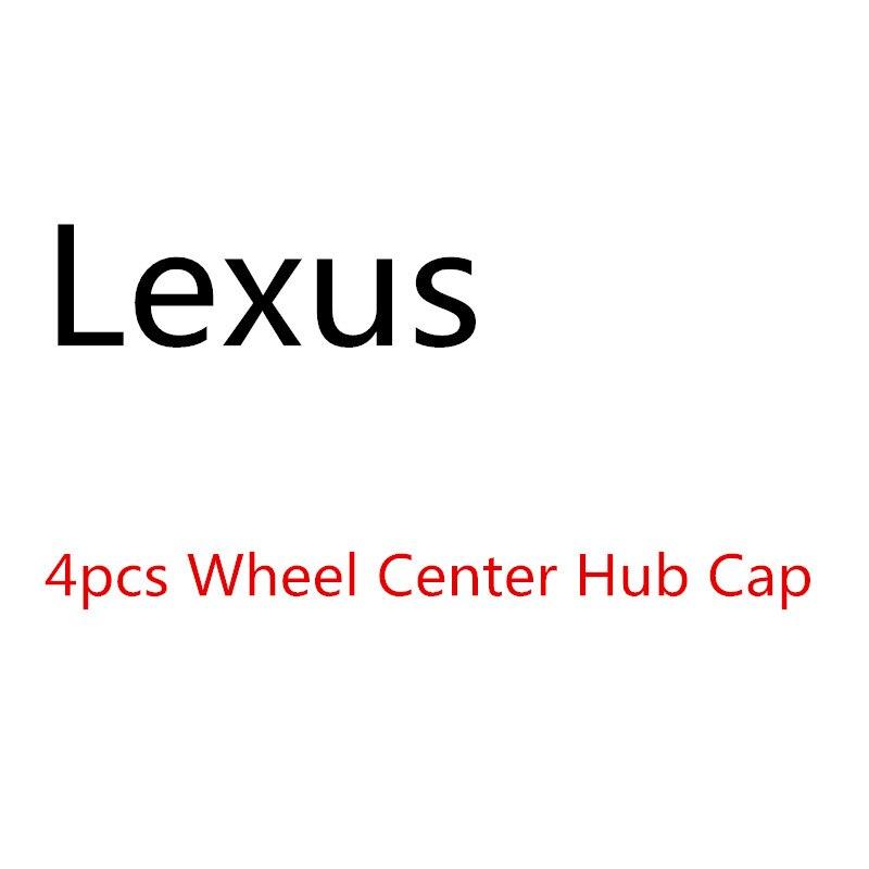 4PCS Car Wheel Center Hub Cap For Lexus ES300 IS300 GS430 RX330 GS300 Car Accessories