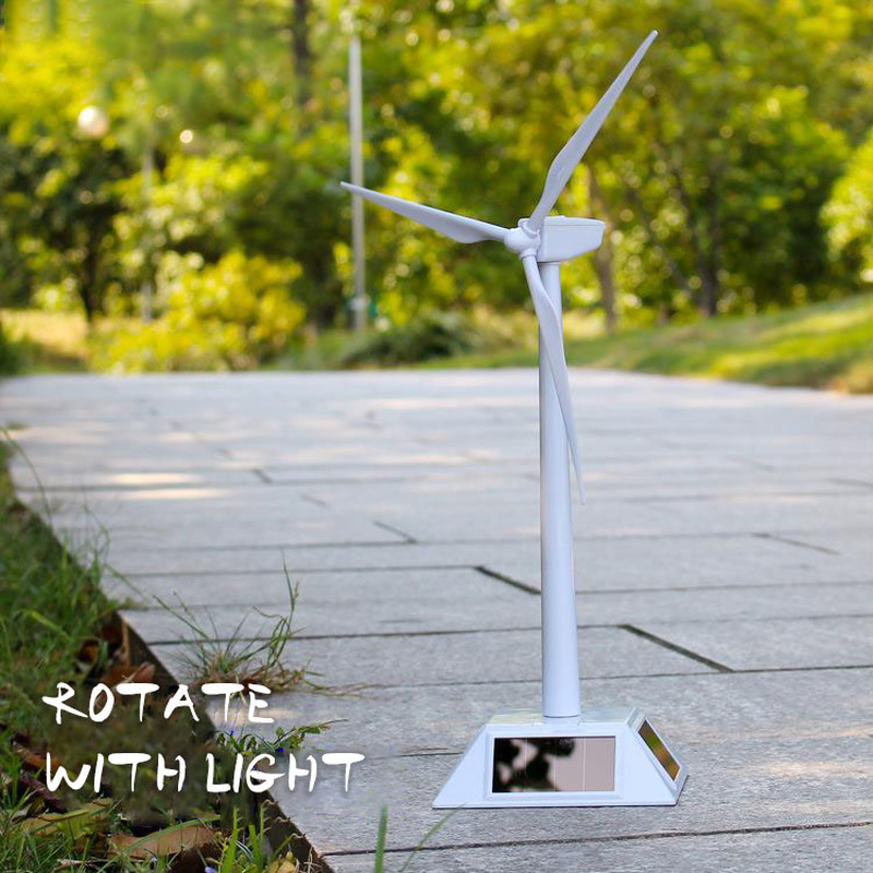2019 New Solar Windmill Plastic Windmill DIY Assembly Accessories Windmill Model Educational Toy Handicraft