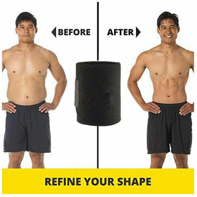 Men Women Waist Trimmer Belt Sweat Wrap Tummy Stomach Weight Loss Fat Burner Gym Slimming Belt 3