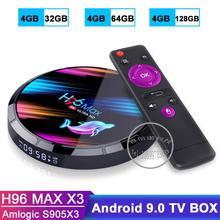 H96MAX X3 TV BOX Android 9.0 Amlogic S905X3 Quad Core 4GB 32