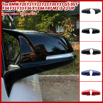 facelifted modified car styling Excellent Rearview Mirror Cover caps Carbon Fiber Pattern For BMW F32 F33 F36 X1 E84 F87 M2 i3 image