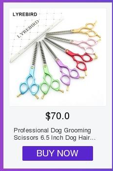 Cão grooming scissors curvo profissional tesoura de