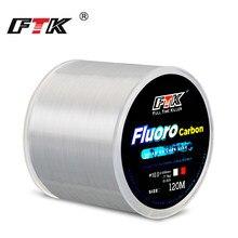 FTK – ligne de pêche en fluorocarbone, revêtement en Fiber de carbone, Leader, accessoires, 120M, 0.2-0.6mm, 3.15-21.5kg
