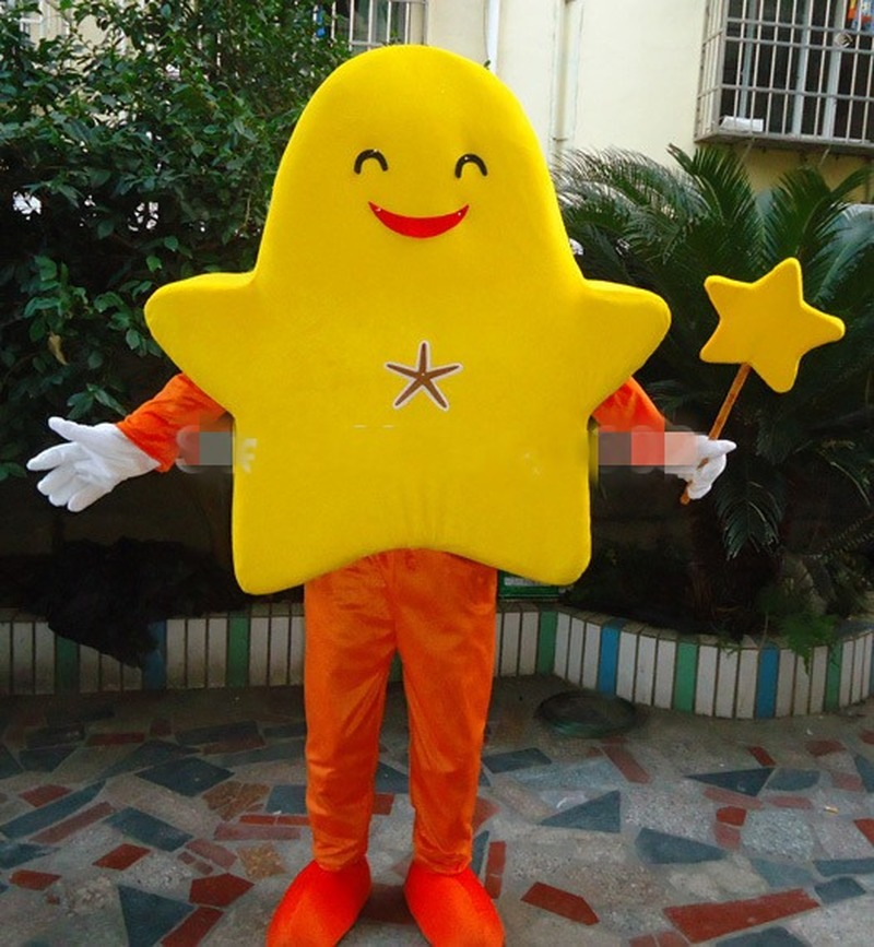 Hot Orange & Yellow Starfish Mascot Costume Suits Cosplay Party Game Dress Outfits Interesting Apparel Cartoon Character Clothes