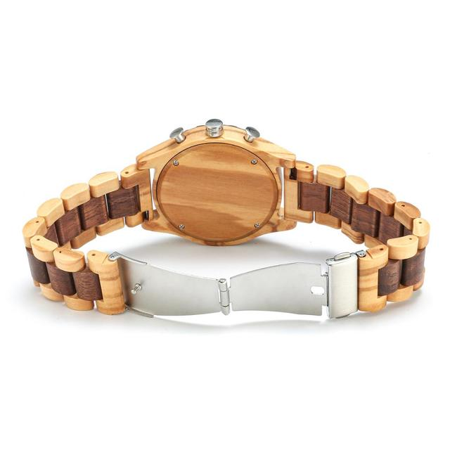 Shifenmei Wooden Watches Men 2019 Military Wooden Multi-Function Date Display Quartz Watches Top Luxury Brand relogio masculino 5