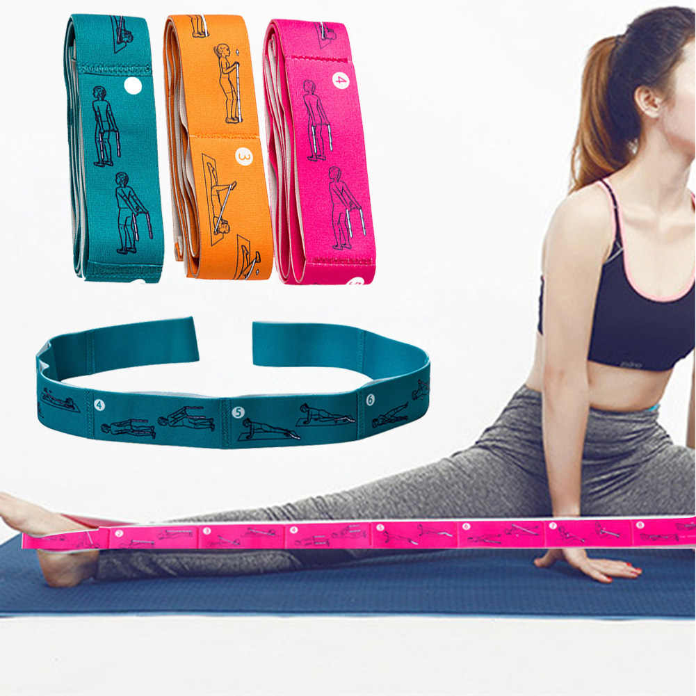 Sports Gymnastics Bodybuilding Stretching Strap Fitness Accessories Yoga Exercise Home Gym Nylon Resistance Band Muscle Training