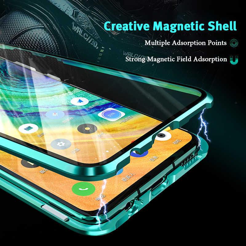 ロック 360 保護磁気ケース Huawei 社メイト 30 プロ 20 Lite 20X 耐衝撃金属 Bumber ケース Huawei 社 P30 プロ P20 Lite