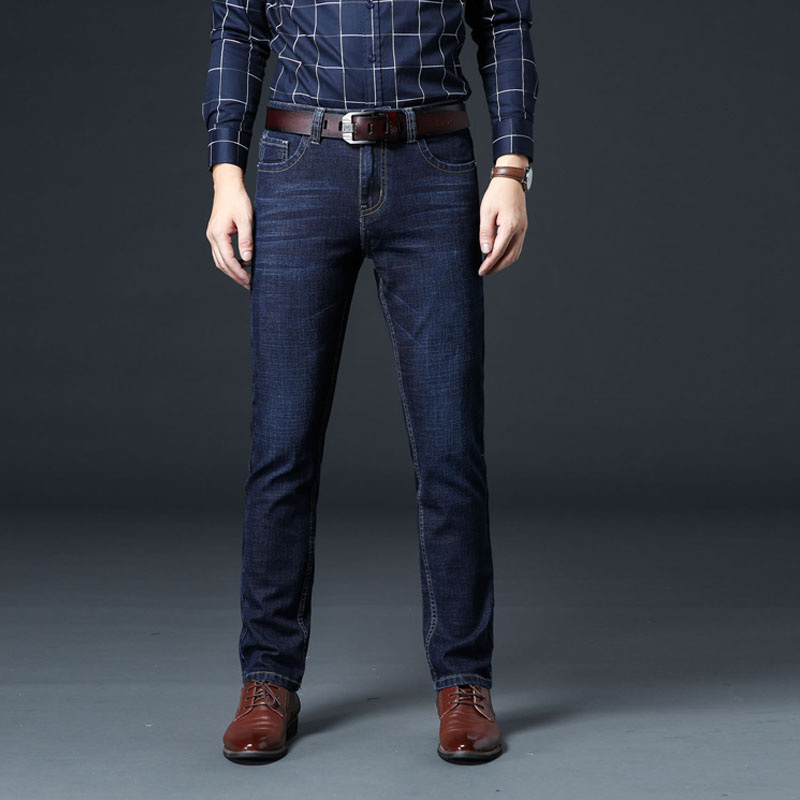 DAISHU Brand Denim Male Reinforced Stitching Men Jeans Five Pockets Slim Straight Man Classic Jean For Spring Autumn Winter