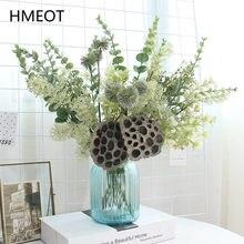 Getrocknete Blume Lotus Pod Eukalyptus Blatt Pompom Pflanzen Künstliche Bouquet Hochzeit Anordnung Layout Gefälschte Blume Hause Dekoration