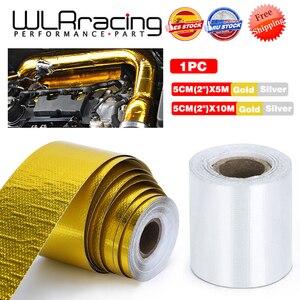 Image 1 - EINE Gold 2 Hitzeschild Band Air Intake Wärmedämmung Schild Wrap Reflektierende Wärme Barriere Selbstklebende Motor 2 Zoll 5/10M