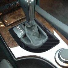 Cubiertas de cambio de marchas para coche, pegatinas de panel de fibra de carbono y adhesivos de estilo Interior para BMW serie 5 E60