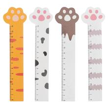 8 Pcs Wooden Rulers Cartoon Straight Rulers Lovely Students Measuring Rulers