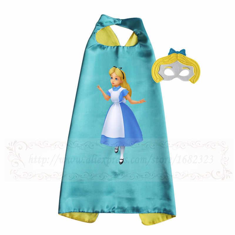 王女女の子ハロウィンコスチュームケープマスク子供衣装ドレスアップふり女の子衣装ギフト DC スーパー少女コスプレ