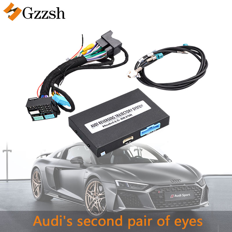 Car rear view adapter for <font><b>Audi</b></font> A3 A4 A5 Q2 <font><b>Q3</b></font> Q5 Volkswagen video decoderSupport original vehicle dynamic trajectory and radar image