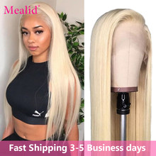 Glueless 613 Blonde Lace Front Wigs Remy Brazilian Straight Hair 13x4 Lace Front Human Hair Wigs Pre Plucked With Baby Hair 150%