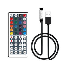 5 V USB IR Remote Controller RGB Konektor USB 44Key LED Controller 5050 2835 LED Strip 5 V CONTROLLER USB konektor Remote 44Key(China)