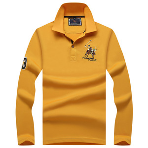Image 5 - Plus size Mens POLO Shirts Brand Cotton  Long sleeve Camisas solid embroidery Polo Summer Stand Collar Male Polo Shirt