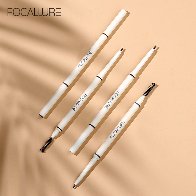 FOCALLURE Artist Sketch Eyebrow Pencil Waterproof Natural Long Lasting Eye Makeup Eye Brow Tint 4 Color Brows Makeup 5