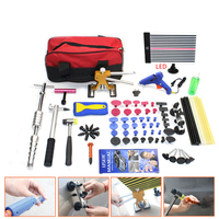 pdr lamp Car Hail Dent Repair kit Autobody dent removal tools Dent lifter kit Glue tabs accessory red tool bag