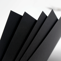 Thick Blank Black Paper Handmade Drawing DIY Graffiti Paper A4 A3 4K 8K Black Greeting Postcard Cardboard Scrapbook Paper 350g