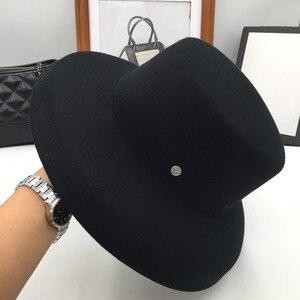 Image 5 - ฤดูใบไม้ร่วงฤดูหนาวหมวกสำหรับหมวกผู้หญิงหมวกกว้าง brim felt trilby retro แสดงขนาดเล็ก face หมวก