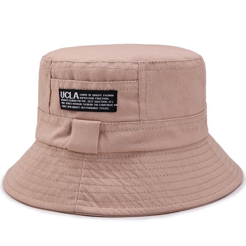 Summer Hats Unisex Cotton Flat Letter Casual Bucket Hat Outdoor Sun Protection Fishing Tourist Mountaineer Fisherman's Hat Men