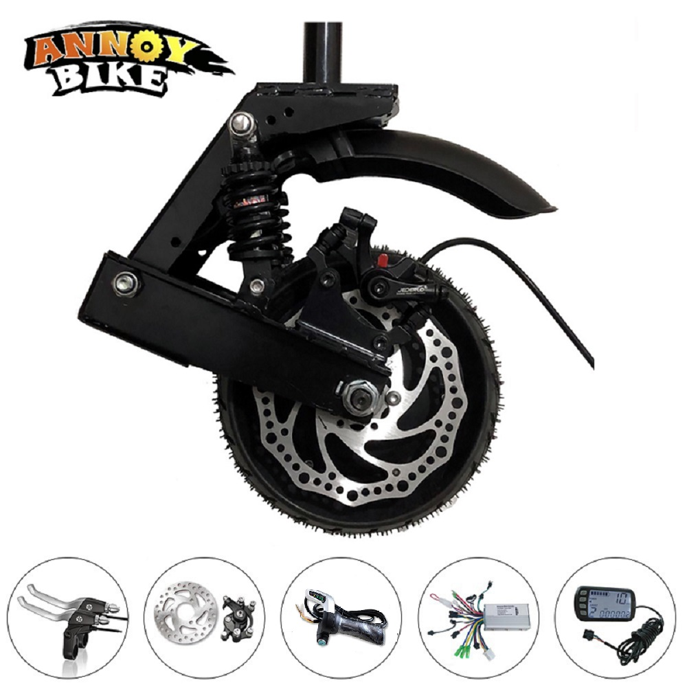 8'' 8 inch 48V 1000W Scooter Motor With Electric Scooter Special Front Fork Shock Absorber Gear Hub Motor Electric Bicycle