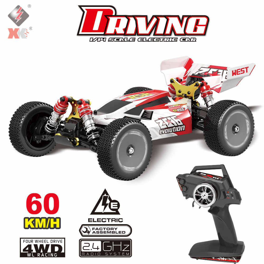 Wltoys Xks 144001 Rc Auto 60 Km/h Hoge Snelheid 1/14 2.4 Ghz Rc Buggy 4WD Racing Off-Road Drift auto 550 Motor Rtr Afstandsbediening Auto