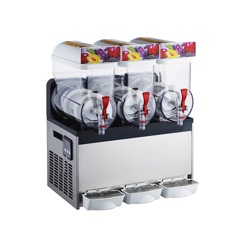 2020 New Style Big Capacity 15l*2 Double Tanks Thailand Slush Machine Commercial Ice Slush Machine For Sale