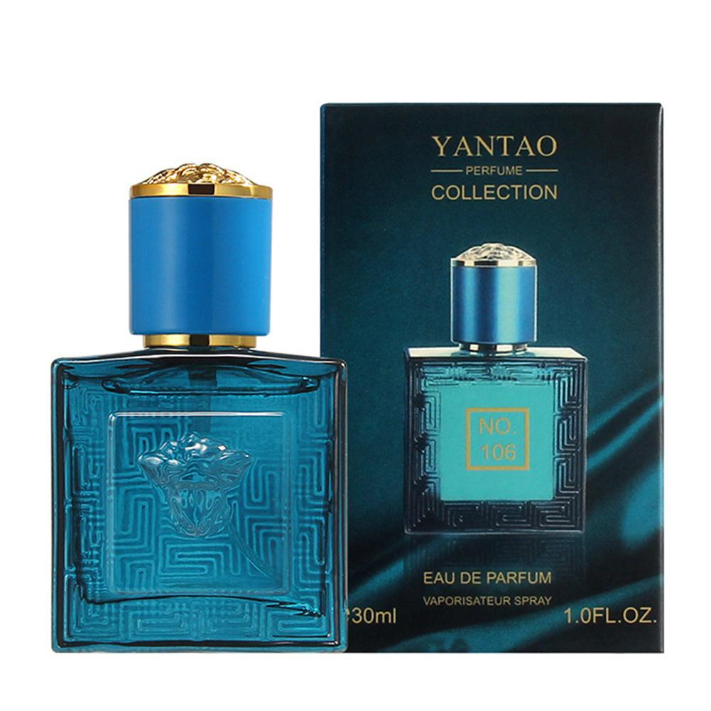 VIBRANT GLAMOUR 30ml Long Lasting Men Perfume Marine Woody Body Spray Glass Bottle Perfumes Classic Gentleman Male Fragrance
