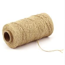 1 Roll Jute Hemp Rope DIY Production Craft Party Wedding Gift Packaging Scrapbooking Decoration Card