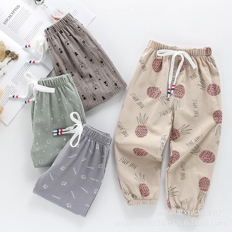 2021 Новая летняя одежда для мальчика, на щиколотке; Для малышей Слаксы для детей Дети анти-Противомоскитные штаны