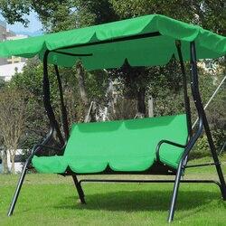 3 Seat Swing Luifels Zitkussen Cover Set Patio Swing Stoel Hangmat Vervanging Waterdichte Tuin DEC889