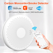 Smoke Detector and Carbon Monoxide Detector Wifi Tuya Smart Battery Operated Smoke CO Alarm Detector Sensor
