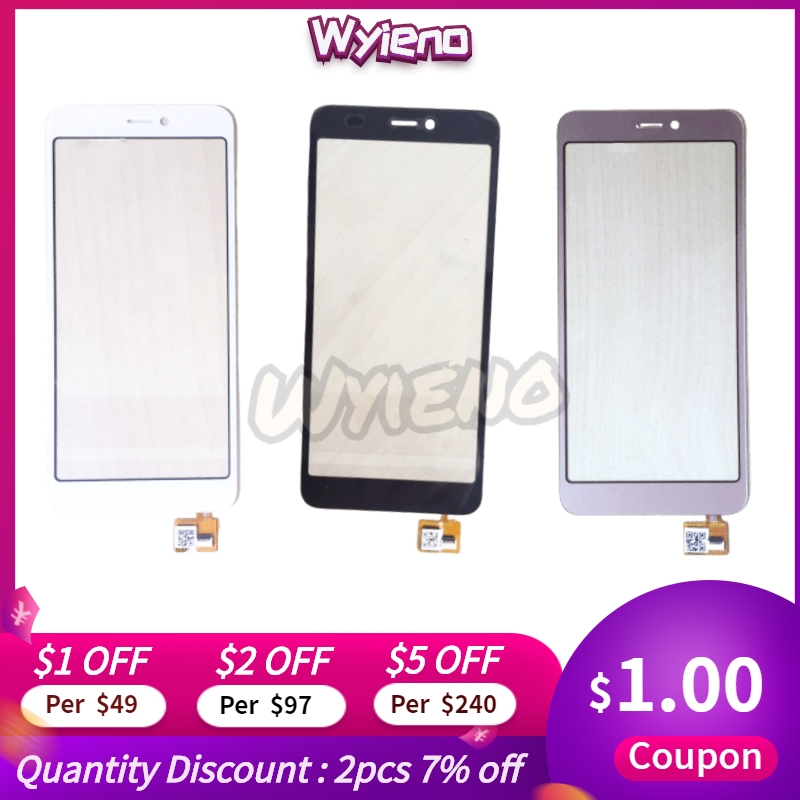 Wyieno Black/Golden For DEXP BS650 Touch Screen Digitizer Sensor ; With Tracking Number