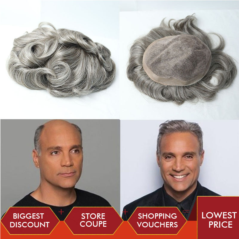 Fine Mono Mens Toupee PU Around Hairpieces 8x10 Inches Durable Hairpieces Replacement System For Men Rosa Queen