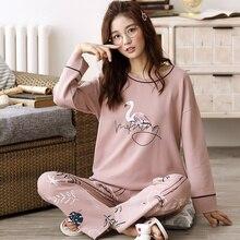 M L XL XXL XXXL 4XL 5XL femmes pyjamas ensembles mignon Animal vêtements de nuit pour filles femmes Pijamas costume maison vêtements plus grand Pyjama Femme