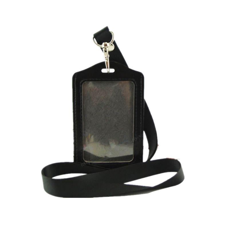 Business-Card-Holders Identity Case Worker Women Lanyard Fashion Pu for with 10-Colors