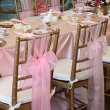 Chair-Sash Fabric-Supply Chrismas-Decoration Organza Wedding Party Banquet Event Cover