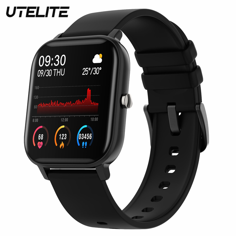 UTELITE P8 Smart Watch Men Women Heart Rate IP67 Waterproof Full Touch HD Display Screen GTS Band For IPhone Huawei Xiaomi Phone