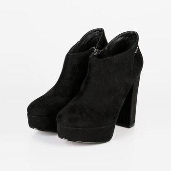 With heel and platform Booties