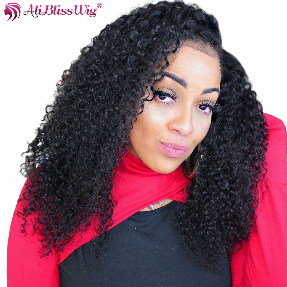 13x6 Curly Human Hair Wigs Deep Part Lace Front Human Hair Wigs Pre Plucked Lace Front Wig For Black Women With Baby Hair Remy