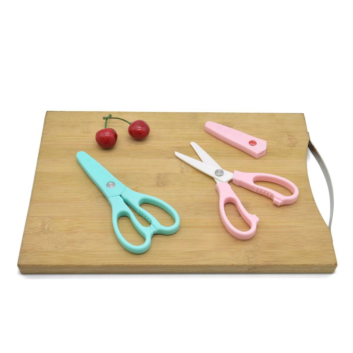 Hot Sales Ceramic Shear Zirconia Ceramic Scissors With Sleeve Xue Sheng Jian Er Tong Jian Infant Feeding Aid Scissors
