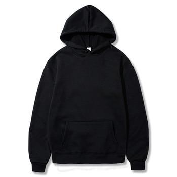 SWENEARO Autumn Winter Solid Color Fleece Hoodies Mens European American Style Hip Hop Sweatshirts Hoody jacket Male Hoodied - discount item  45% OFF Hoodies & Sweatshirts