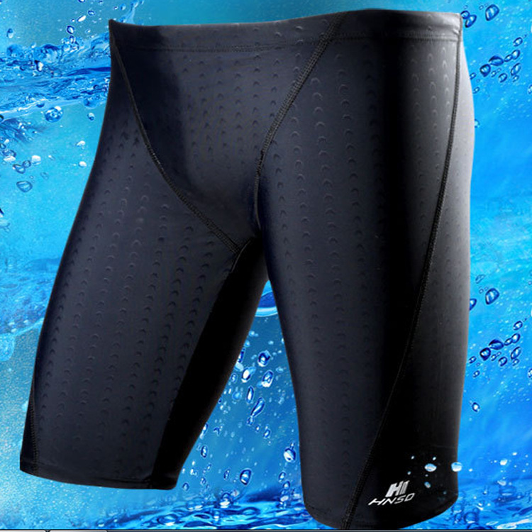Suitable For Genuine Product Shark Skin Waterproof Quick-Drying Plus-sized Swimming Trunks Men's Short Top Grade MEN'S Swimming