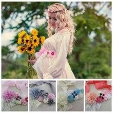 Belts Rhinestone Flowers Wedding-Dress-Accessories Maternity-Waistband Pregnant-Women