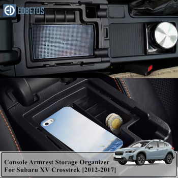 For Subaru XV Crosstrek 2012 2013 2014 2015 2016 2017 Central Armrest Storage Box Container Holder Tray For Subaru XV Crosstrek image