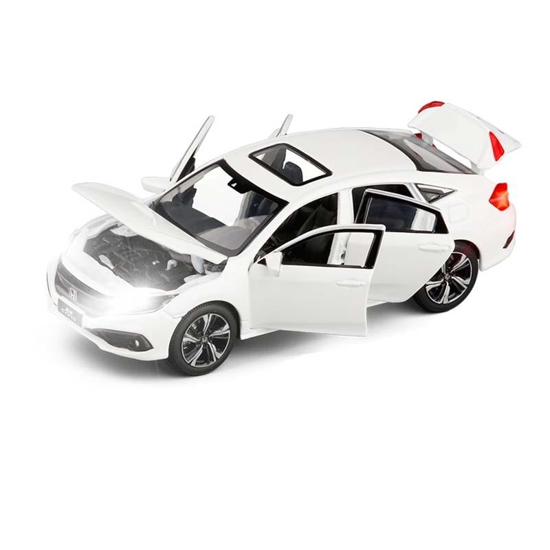 1/32 игрушечный автомобиль HONDA CIVIC металлический сплав литой под давлением Миниатюрная модель моделирование звуковой светильник седан игруш...