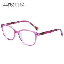 Зеноттические синие ацетатные очки, Детская оправа, оптические очки для близорукости, оправы для очков, для девочек, прозрачные милые очки, оправа для детей, бренд